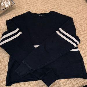 Brandy Melville striped crew neck sweatshirt